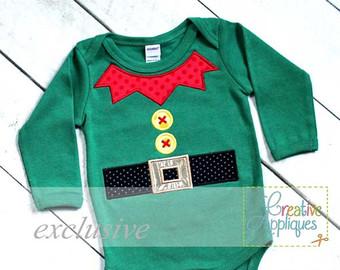Elf clipart collar Elf Applique Embroidery Elf Machine