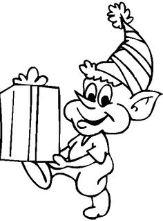 Elf clipart coloring Got  Coloring Santa's Pages