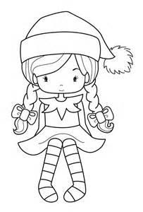 Elf clipart coloring On elves shelf cartoon elf