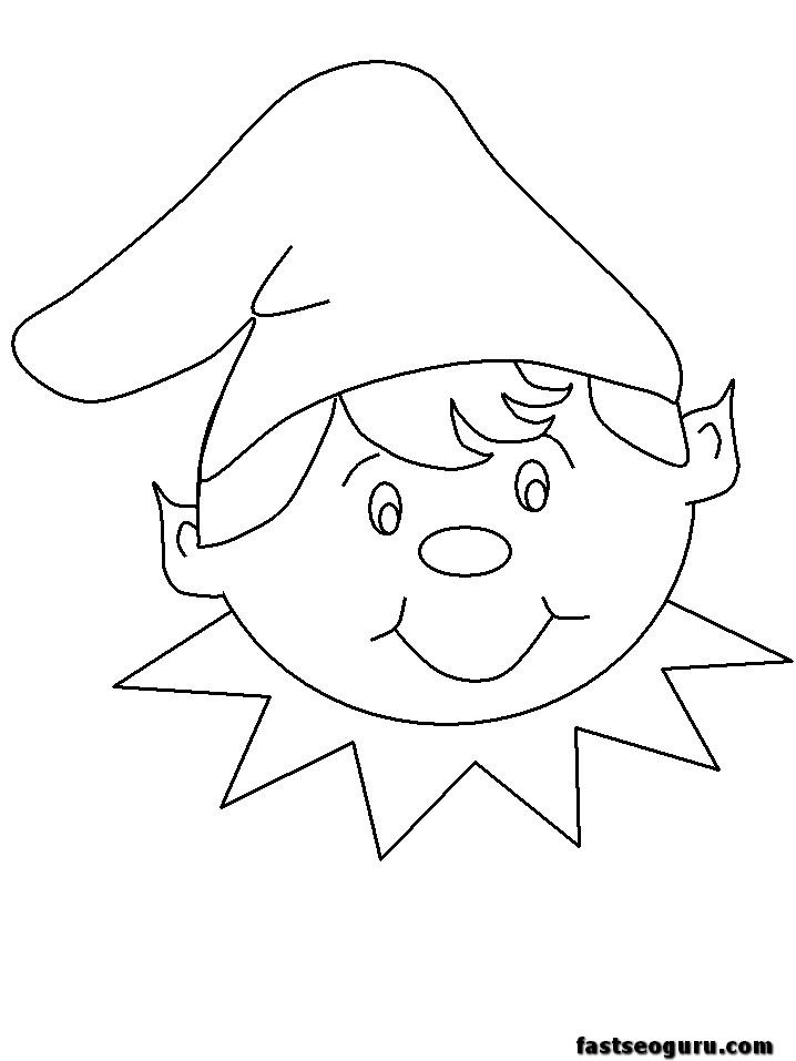 Elf clipart coloring Pages pages for applique applique