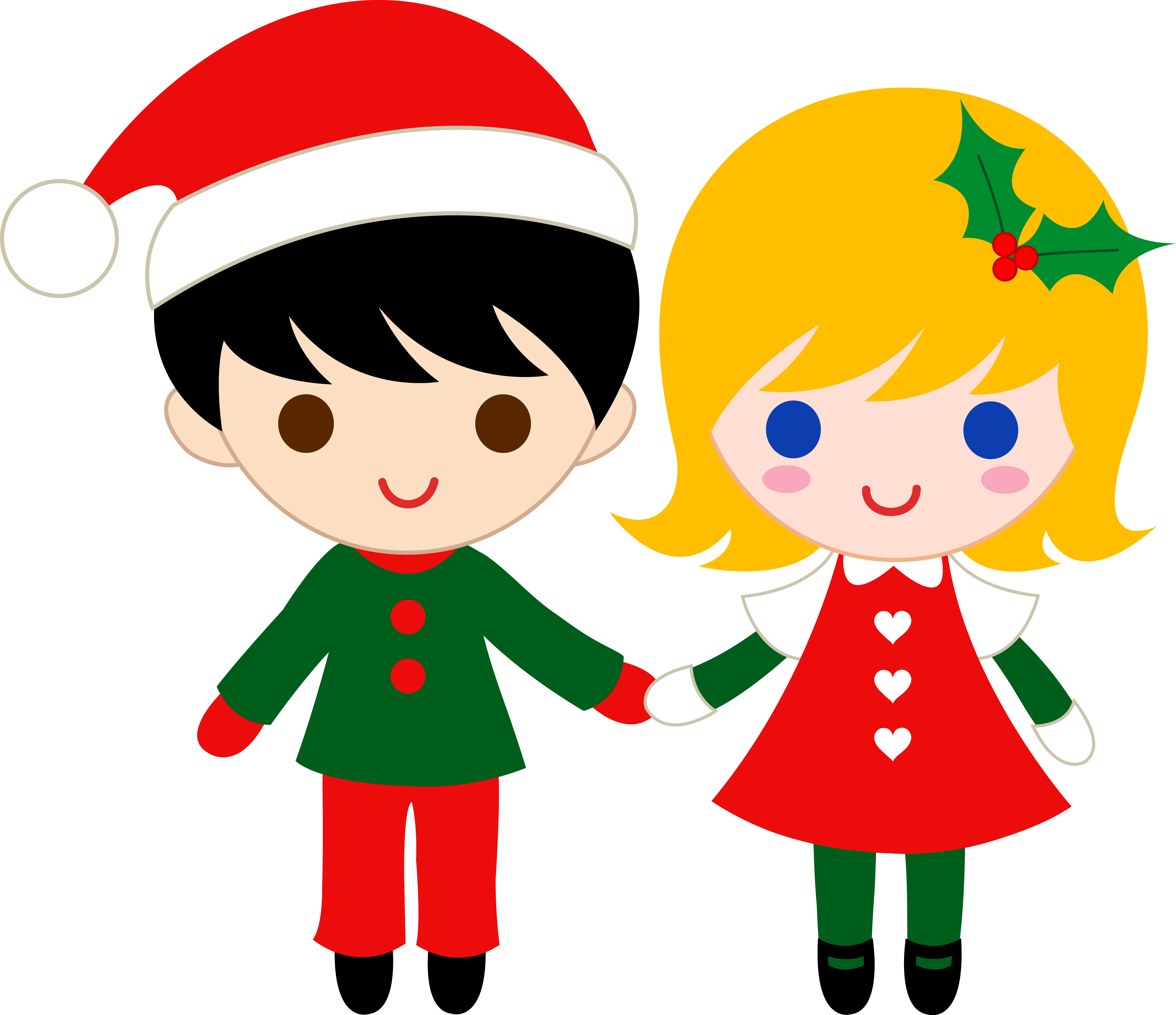 Little Boy clipart cute Clip Art Hands Christmas Holding
