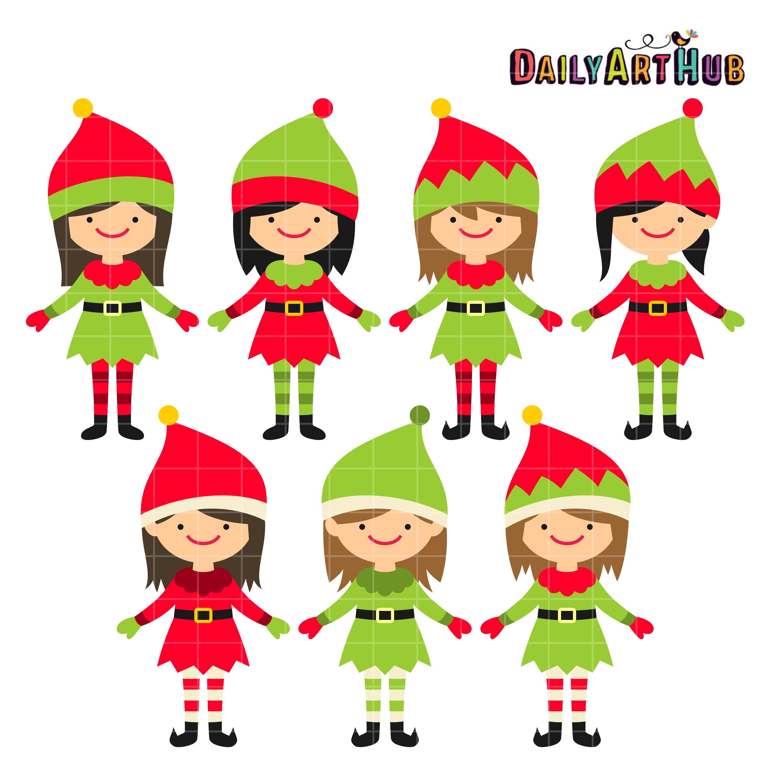 Elf clipart cute Elves Clipart Best synkee Elf