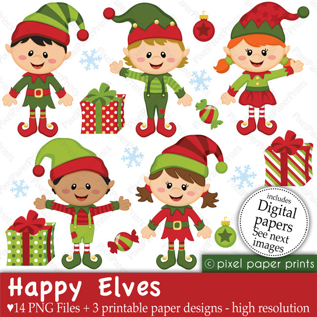 Elf clipart cute Clip 00 231919 and Etsy