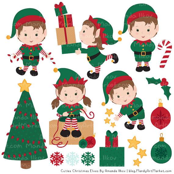 Elf clipart cute Christmas Elf Vector Christmas Clipart
