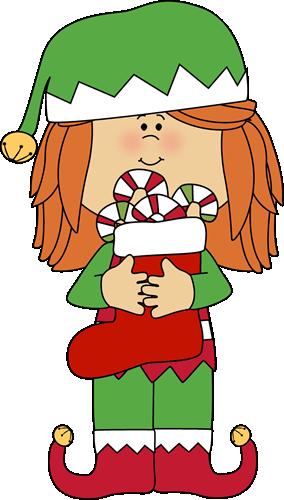 Elf clipart cute GIRL KIDS Claus Clipart ART