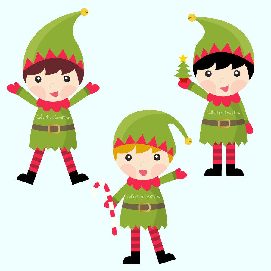 Elf clipart cute Girl christmas elf com image