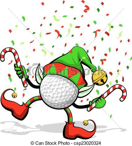 Elf clipart drawing christmas Illustration ball Elf Vector golf