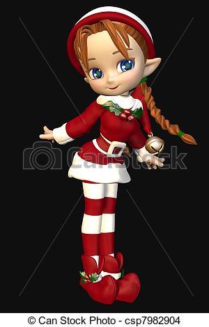 Elf clipart drawing christmas Elf Toon Cute Xmas toon