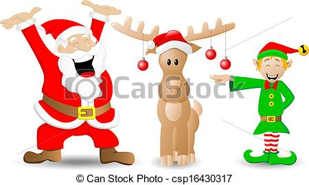 Elf clipart drawing christmas Christmas of claus and and