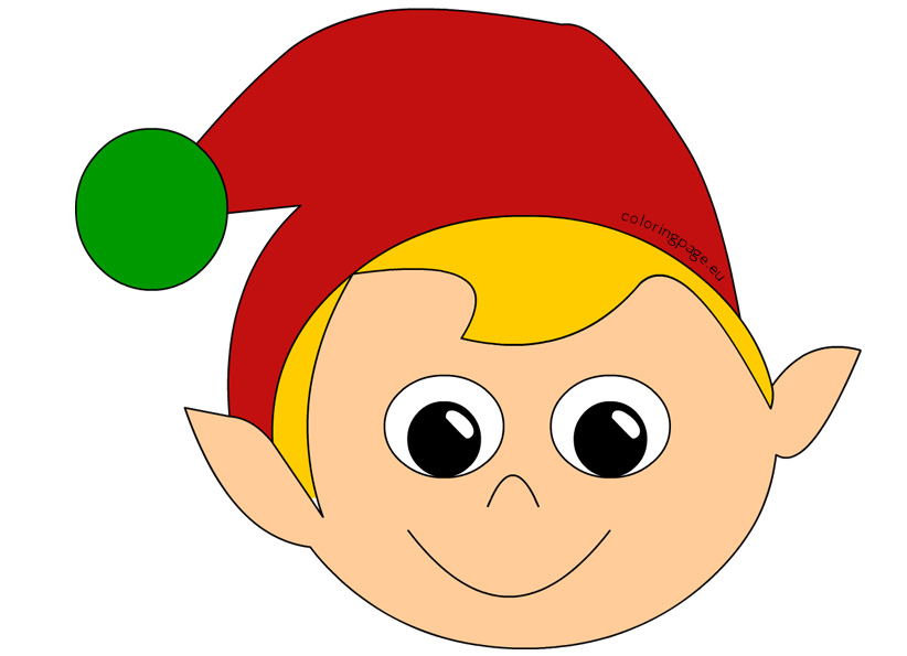 Mask clipart christmas Coloring Christmas Share: Page Elf