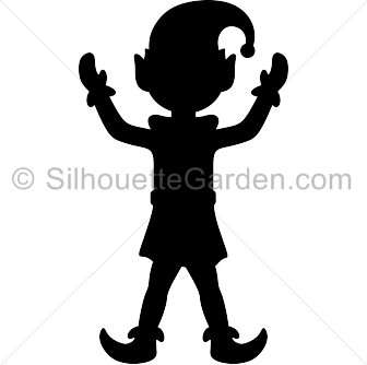 Elfen clipart black and white Free the Elf in image