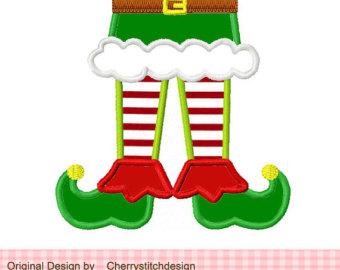 Legs clipart buddy the elf Machine feet Etsy Christmas Embroidery