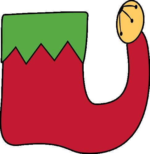 Shoe clipart one Christmas Clipart Elf Shoes