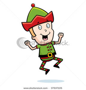 Elf clipart excited Clip For Elf Image: Jumping