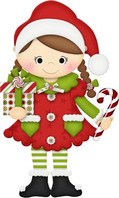 Elf clipart excited SᗩNTᗩ  paper · clipart