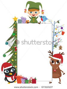 Elf clipart frame Frame with Tree Elf a