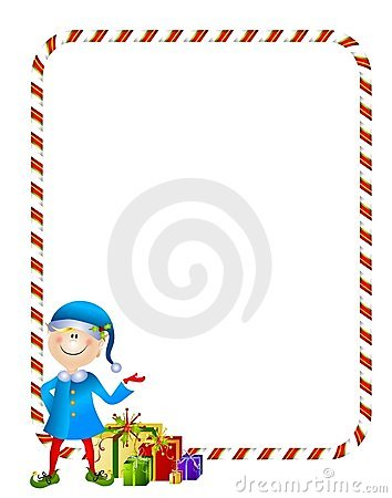 Elf clipart frame Candy With Gifts Elf Featuring