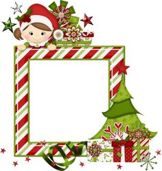 Elf clipart frame Clip Christmas cluster Peppermint Clusters❤Frames
