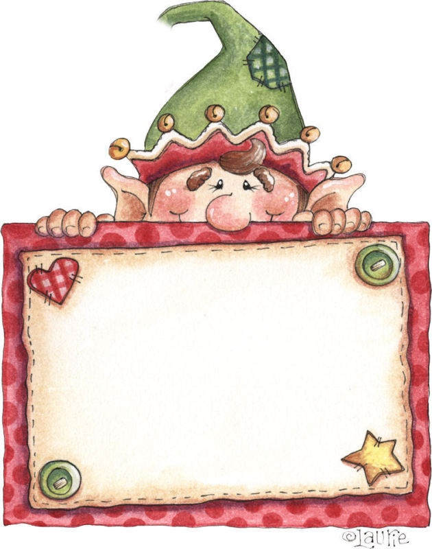 Elf clipart frame Cute clipart make he 25+