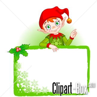 Elf clipart frame CHRISTMAS Royalty ELF Group design