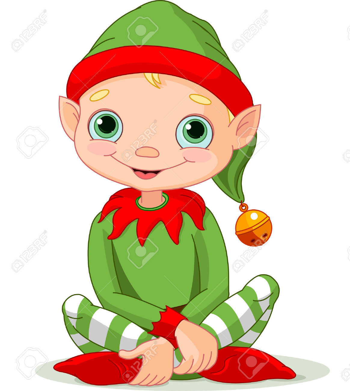 Elf clipart girly A grinning christmas  of
