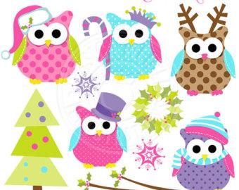 Elf clipart girly Christmas Girly Digital Owls Babies
