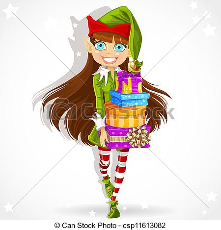 Elf clipart girly Cute for drawings stock girly