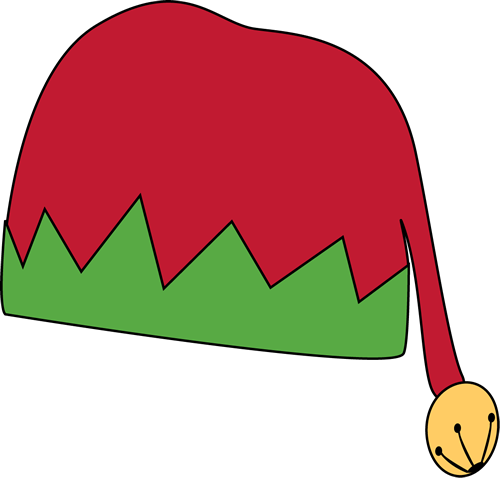 Elf clipart green santa hat Red and Elf Hat Red