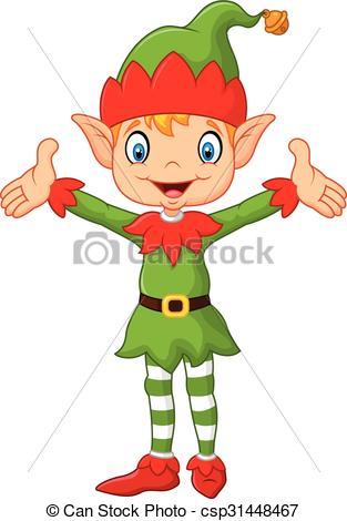 Elf clipart hands Art elf  Vector up