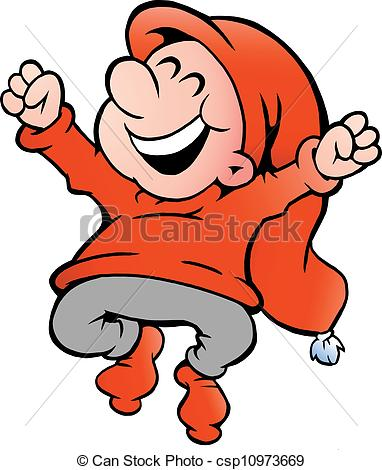 Elf clipart happy Of illustration very of Vector