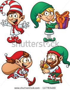 Elf clipart happy Characters Angels and Pinterest Elves