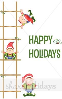 Elf clipart happy holiday Background Elf Background Holiday Elf