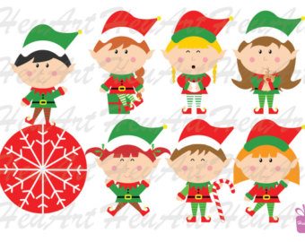 Elf clipart happy holiday Elves Holiday DIY NEW Cute