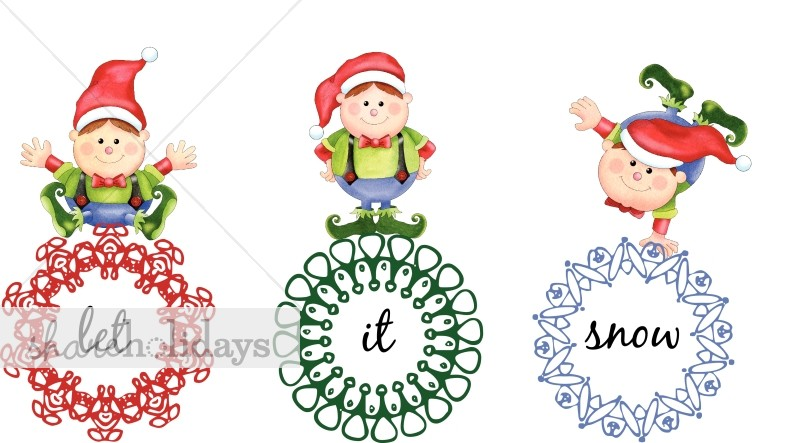 Elf clipart happy holiday Clipart Playful Clipart Elves Playful