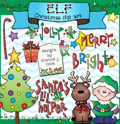 Elf clipart happy holiday Cool  Christmas clip cute