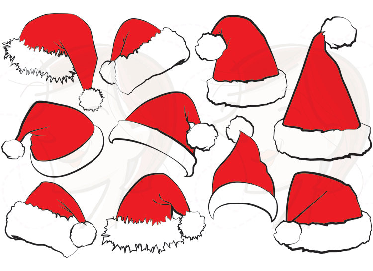 Elf clipart holiday hat Christmas Face Hat SVG Cricut