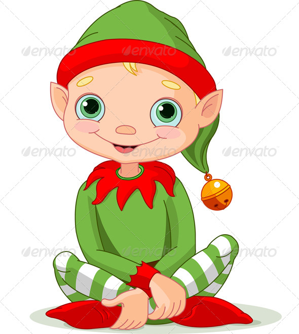 Elfen clipart cute Christmas Holiday Elf Christmas icon