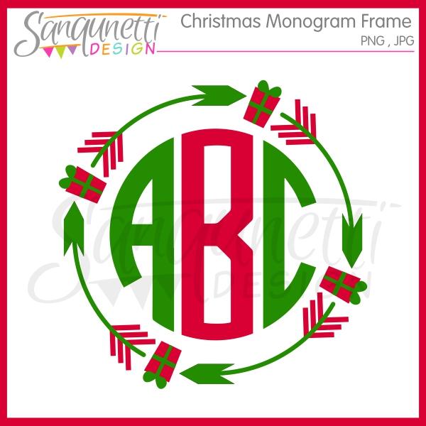 Elf clipart monogram Monogram Design clipart Sanqunetti christmas