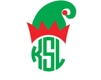Elf clipart monogram Monogram Etsy Elf monogram Christmas