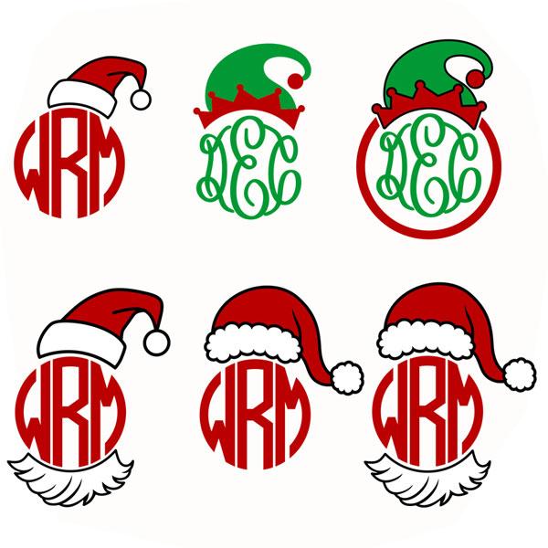 Elf clipart monogram And Frame Christmas Designs Elf