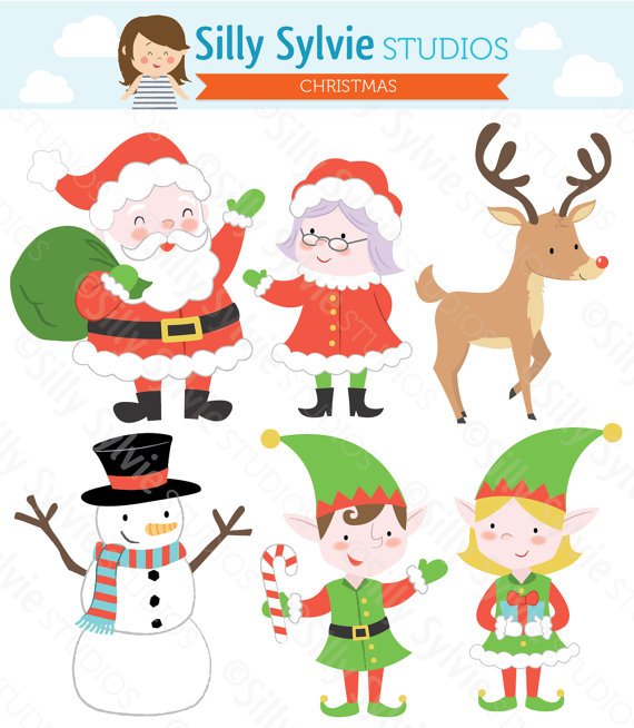 Santa clipart mrs claus #13