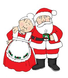 Santa clipart mrs claus #1