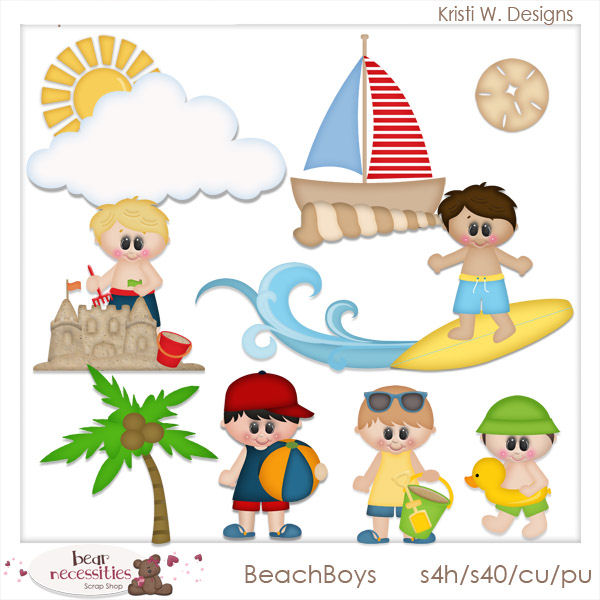 Elf clipart on beach Kristi Art Beach Day Art