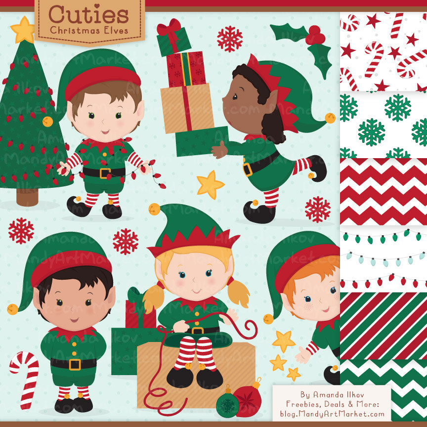 Glove clipart elf & Etsy Christmas Elf Elf