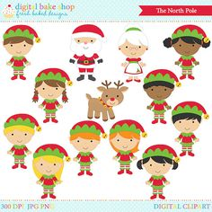 Elf clipart party Baby  baby rudolph elves