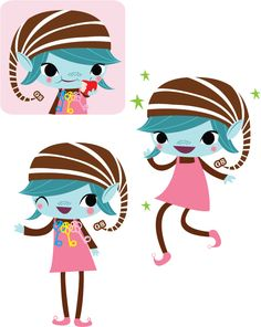 Elf clipart reminder (2008) Brownie art Girl of