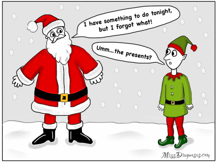Elf clipart reminder – Brain Had Claus Brain