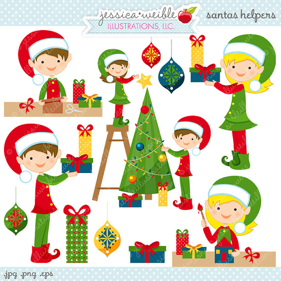 Elf clipart santa's workshop Santas Use Commercial Clipart Cute
