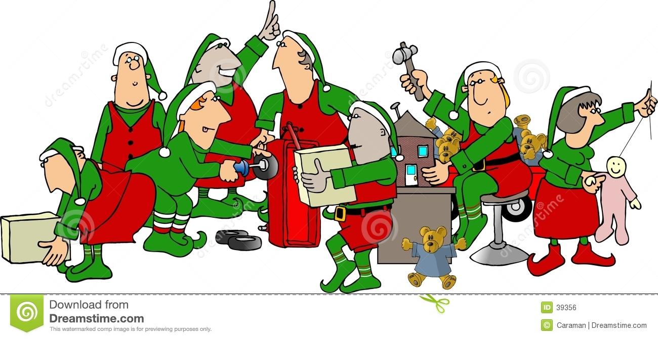Elf clipart santa's workshop Santa's elves Stock Workshop free