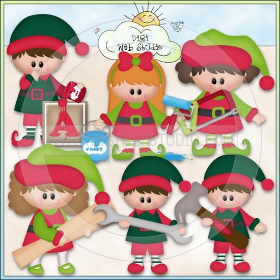 Elf clipart santa's workshop Christmas clipart Elves Village: collection